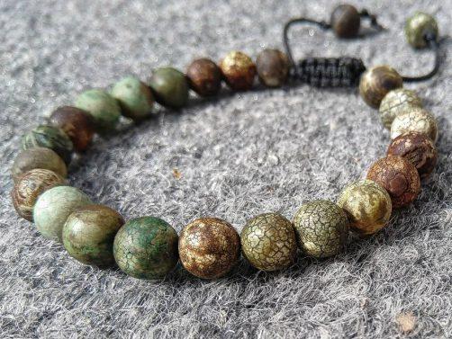 دستبند جاسپر سبز