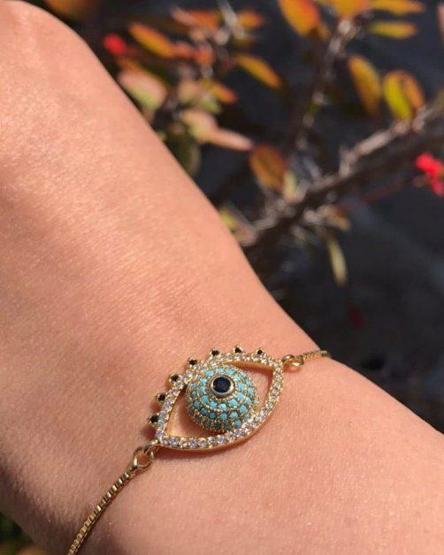 دستبند سواروسکی چشم نظر